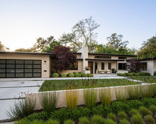 Inspiration For A Contemporary Beige Flat Roof Remodel In San Luis Obispo