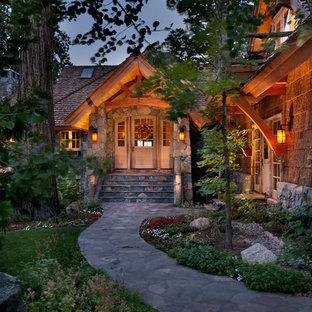 Example of a mountain style exterior home design in Sacramento