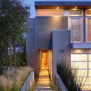 Trendy concrete exterior home photo in Los Angeles