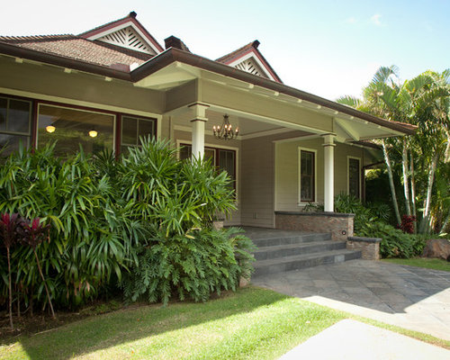 Tropical Gray House Paint Color Exterior Design Ideas Remodels Photos