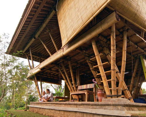 Bamboo house houzz for Modern bamboo house plans