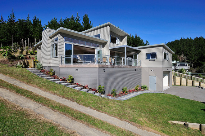 Contemporary Exterior by Mercury Bay Design