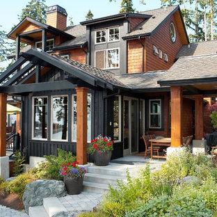Idéer för mellanstora rustika hus
