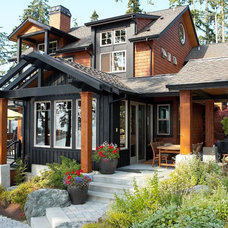 Rustic Exterior by Dan Nelson, Designs Northwest Architects