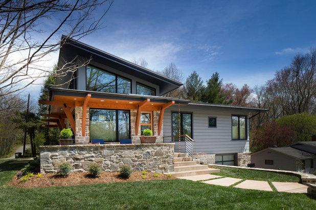 Contemporary Exterior by Living Stone Design + Build