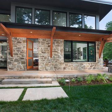 Organic Mountain Contemporary Asheville Renovation