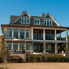 Traditional Exterior by Island Architects