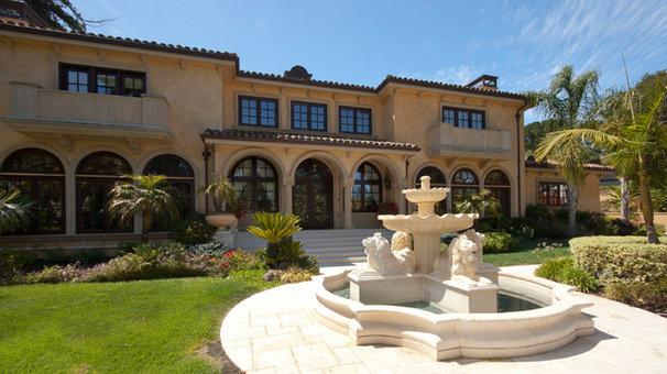 Mediterranean Exterior by Stewart Associates Architecture & Interiors