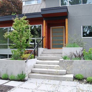 Contemporary two-story exterior home idea in Vancouver