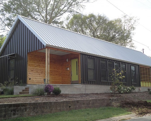 Best Eclectic Exterior With Metal Siding Design Ideas