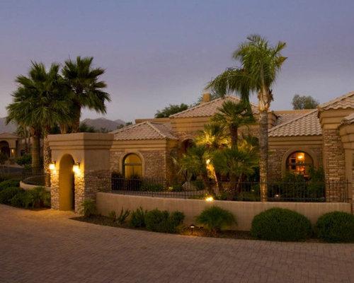 Southwestern Brick Exterior Home Design Ideas Remodels