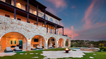 Outdoor living hill country views