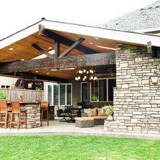 Traditional Exterior by McCarthy Custom Homes LLC.