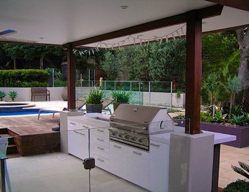 Outdoor living space in Dolans Bay NSW
