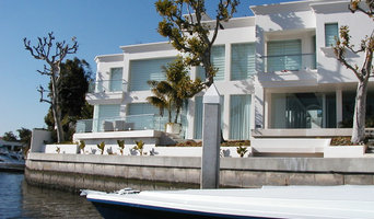 Outdoor Polished Stainless Steel and Glass Railings