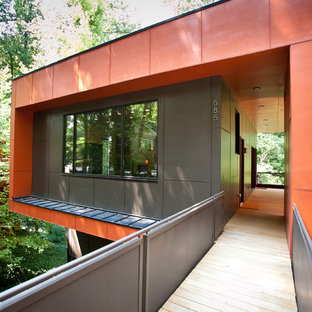 Modern red exterior home idea in Atlanta