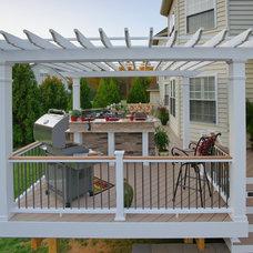 Traditional Exterior by Fine Decks Inc