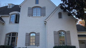 Painted Brick Exterior (After)