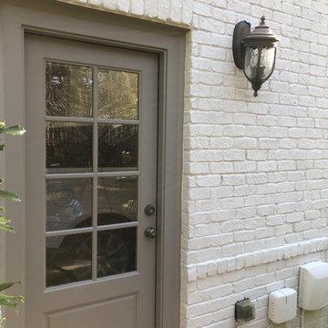 Painted Brick Exterior