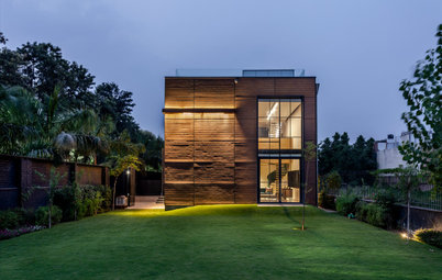 Delhi Houzz: Uber-Minimalism is the Mainstay of This Cuboid House