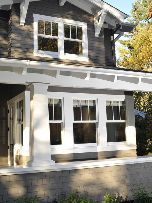 Craftsman window trim home design ideas pictures remodel Window styles for contemporary homes