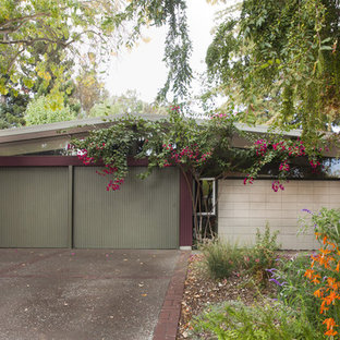 Inspiration for a 1960s concrete gable roof remodel in San Francisco
