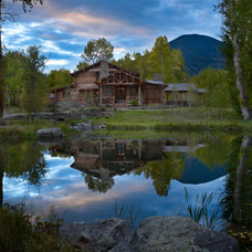 Rustic Exterior by North Fork Builders of Montana, Inc.