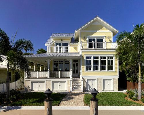 Victorian Yellow Exterior Design Ideas Renovations Photos
