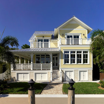 Pass-a-Grille Intercoastal Home rear elevation