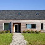 Passive House Retreat Farmhouse Entry Providence