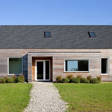 Farmhouse Exterior by ZeroEnergy Design