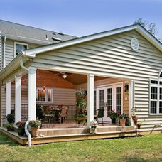 Traditional Exterior by Lensis Builders, Inc.