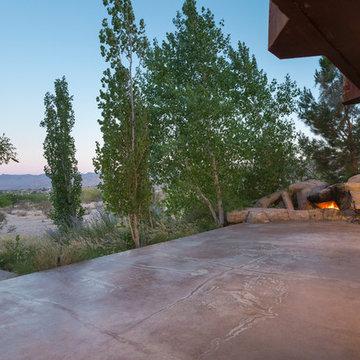 Patio & fireplace