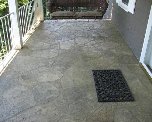 Stamped Concrete Flagstone Houzz