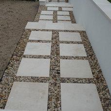 Contemporary Exterior by StoneMar Natural Stone Company LLC