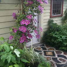 Eclectic Exterior by Pebble and Co. Mosaics