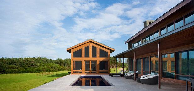 Contemporary Exterior by KISTLER & KNAPP BUILDERS