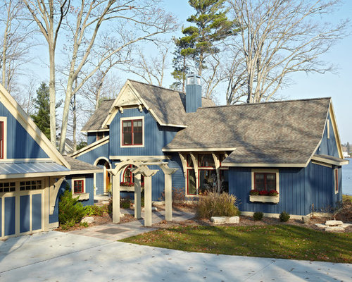 Cottage Exterior Color Home Design Ideas Pictures