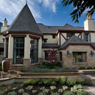 Inspiration for a timeless stone exterior home remodel in Salt Lake City