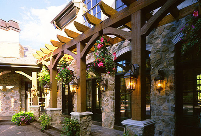 Traditional Exterior by Markay Johnson Construction