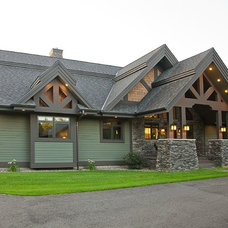 Rustic Exterior by Dotty Brothers Construction, Inc.