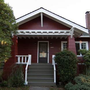 Phinney Ridge Red Craftsman House - Painting