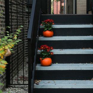 シカゴのトラディショナルスタイルのおしゃれな家の外観の写真