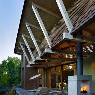 This is an example of a contemporary exterior in Boise.