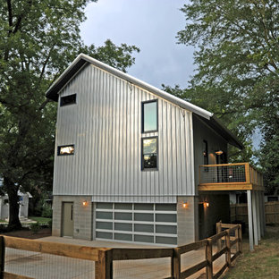 Inspiration for an industrial metal exterior home remodel in Atlanta