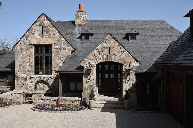 Rustic Exterior by Wright Design