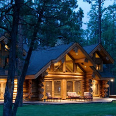 Rustic Exterior by Summit Log & Timber Homes