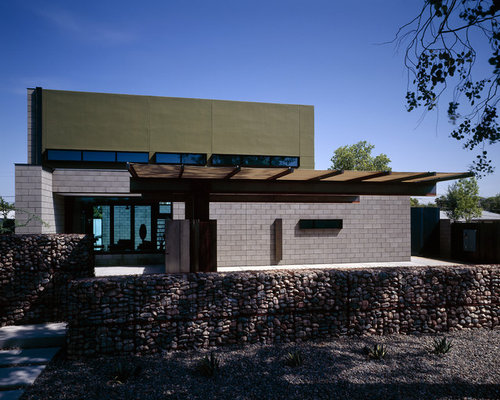 Minimalist Two Story Exterior Home Photo In Phoenix