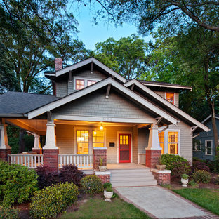 Arts and crafts brown exterior in Charlotte.