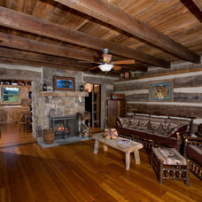 Traditional Family Room by Country Mountain Homes Llc